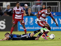 Santa Clara, California - Saturday July 18, 2012: FC Dallas' Fabian Castillo in action during a game against San Jose Earthquakes at Buck Shaw Stadium, Stanford, Ca   San Jose Earthquakes defeated FC Dallas 2 - 1.