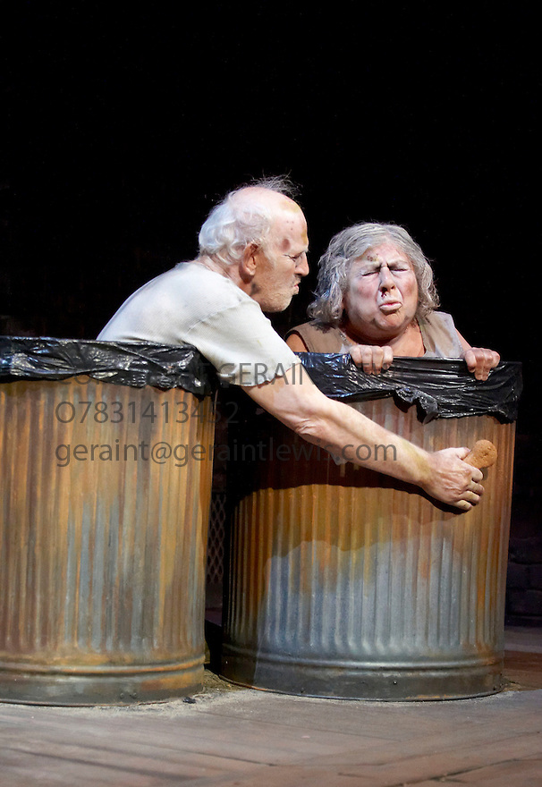 Endgame by Samuel Beckett, A Theatre De Complicite Production directed by Simon McBurney.With Tom Hickey as Nagg,Miriam Margolyes as Nell .Opens at Duchess Theatre on 15/10/09.CREDIT Geraint Lewis
