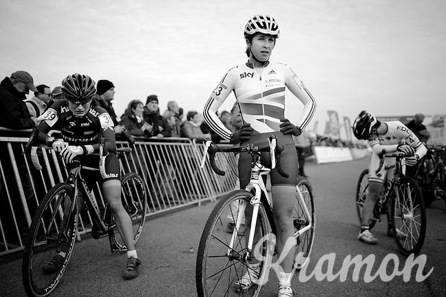 Hannah Payton (GBR) post-race<br /> <br /> Koksijde CX World Cup 2014