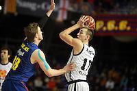 Wallace vs Hervelle. FC Barcelona Regal vs Uxue Bilbao Basket
