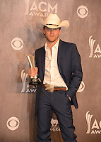 LAS VEGAS, NV - April 6: New Artist of the Year Award winner Justin Moore at the 49th Annual Academy of Country Music Awards Press Room at the MGM Grand on April 6, 2014 in Las Vegas, Nevada. © Kabik/ Starlitepics