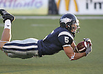 Nevada's Kyle Sammons tries to come up with a diving catch against Nicholls State, Saturday night, Sept. 15, 2007, in Reno, Nevada. .Photo by Cathleen Allison