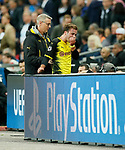 Dortmund's Mario Gotze goes injured during the champions league match at Wembley Stadium, London. Picture date 13th September 2017. Picture credit should read: David Klein/Sportimage