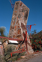 F.L. Wright: Taliesen West. Entrance.  Photo '77.