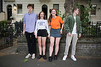 Vita, Louis, Olive, and Mitchell Bradshaw in Kennington Road, London, UK