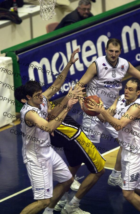 SPORT KOSARKA  PARTIZAN AEK EVROLIGA EUROLEAGUE  19.2.2004. foto: Pedja Milosavljevic<br />