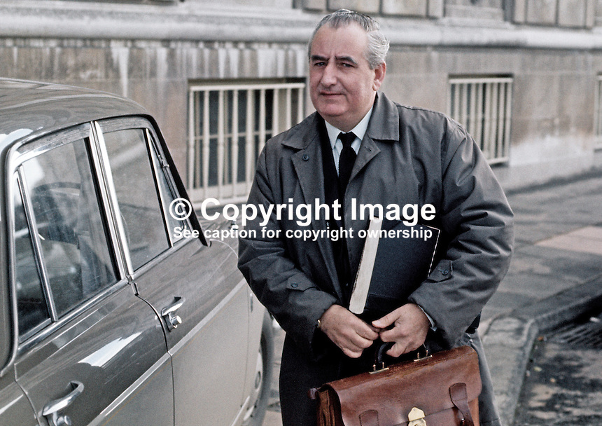 Jim Baillie, secretary, Ulster Unionist Party, at Parliament Buildings, Stormont, Belfast, N Ireland, 1970100363JB3, 363/70.<br /> <br /> Copyright Image from Victor Patterson,<br /> 54 Dorchester Park, Belfast, UK, BT9 6RJ<br /> <br /> t1: +44 28 90661296<br /> t2: +44 28 90022446<br /> m: +44 7802 353836<br /> <br /> e1: victorpatterson@me.com<br /> e2: victorpatterson@gmail.com<br /> <br /> For my Terms and Conditions of Use go to<br /> www.victorpatterson.com