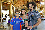 Zach, is a teacher at Green School, he is pictured with his wife Sophie Daubisse and their two sons Milan is 12 years old, Sevan-Fidel is 9 years old, who are students at Green School. They are french residents<br />