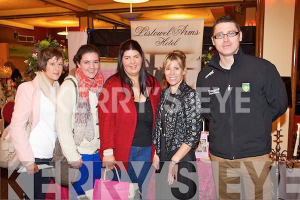 Pictured at the Kerry Wedding Show at the INEC, Killarney were l-r: Aine O'Connor, Aisling McFee, Pauline Hegarty, Patrice Gleasure and Robert Porter .