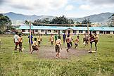 INDONESIA, Flores, Poma School kids play soccer in Denatana Timur village