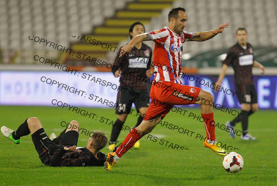 Fudbal Super liga season 2013-2014<br /> Crvena Zvezda v Sloboda Uzice<br /> Dragan Mrdja (R)<br /> Beograd, 23.11.2013.<br /> foto: Srdjan Stevanovic/Starsportphoto &copy;