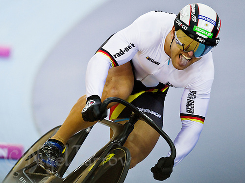 19 FEB 2012 - LONDON, GBR - Germany's Robert Foerstemann (GER) attempts to qualify for the Men's Sprint during the UCI Track Cycling World Cup, and London Prepares test event for the 2012 Olympic Games, in the Olympic Park Velodrome in Stratford, London, Great Britain (PHOTO (C) 2012 NIGEL FARROW)