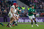 17th March 2018, Twickenham, London, England; NatWest Six Nations rugby, England versus Ireland; Conor Murray of Ireland passes the ball