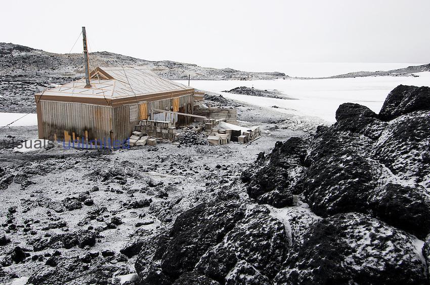 Shackleton's hut at Cape Royds, Antarctica.