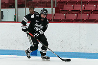 BOSTON, MA - JANUARY 11: Sara Hjalmarsson #19 of Providence College brings the puck forward during a game between Providence College and Boston University at Walter Brown Arena on January 11, 2020 in Boston, Massachusetts.