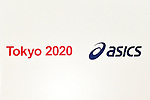 Logo, <br /> APRIL 6, 2015 : <br /> Asics has Press conference in Tokyo. <br /> Asics announced that it has entered into a partnership agreement with the Tokyo Organising Committee of the Olympic and Paralympic Games. With this agreement, Asics becomes the gold partner. <br /> (Photo by AFLO SPORT)