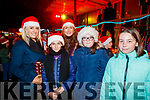 Joanne Ferguson, Saoirse O'Connor, Katie Lucey, Keri Lane, Brooke Griffin, enjoying the festive spirit  in Listowel on Saturday last.