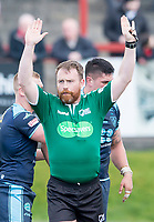 Picture by Allan McKenzie/SWpix.com - 25/03/2018 - Rugby League - Betfred Championship - Batley Bulldogs v Featherstone Rovers - Heritage Road, Batley, England - Nick Bennett, Referee, Specsavers, branding.