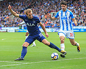 30th September 2017, The John Smiths Stadium, Huddersfield, England; EPL Premier League football, Huddersfield Town versus Tottenham Hotspur; Harry Kane of Tottenham Hotspur FC keeps the ball in play