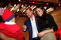 01 December 2017 - Prince Harry and Meghan Markle greet a well-wisher as they tour the Terrence Higgins Trust World AIDS Day charity fair at Nottingham Contemporary in Nottingham, Nottinghamshire. Photo Credit: ALPR/AdMedia