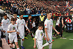 17.03.2019, BayArena, Leverkusen, GER, 1. FBL, Bayer 04 Leverkusen vs. SV Werder Bremen,<br />  <br /> DFL regulations prohibit any use of photographs as image sequences and/or quasi-video<br /> <br /> im Bild / picture shows: <br /> Einlauf Bremer mit Einlaufkindern  <br /> Foto © nordphoto / Meuter