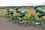 The peloton including Caja Rural-Seguros RGA team during Stage 1 of the Route d'Occitanie 2019, running 175.5km from Gignac-Vallée de l'Hérault to Saint-Geniez-d'Olt-et-d'Aubrac , France. 20th June 2019<br /> Picture: Colin Flockton | Cyclefile<br /> All photos usage must carry mandatory copyright credit (© Cyclefile | Colin Flockton)