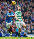 11.3.2018 Rangers v Celtic:<br /> Aldredo Morelos and Kristoffer Ajer