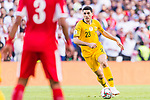 Tom Rogic of Australia in action during the AFC Asian Cup UAE 2019 Group B match between Australia (AUS) and Jordan (JOR) at Hazza Bin Zayed Stadium on 06 January 2019 in Al Ain, United Arab Emirates. Photo by Marcio Rodrigo Machado / Power Sport Images