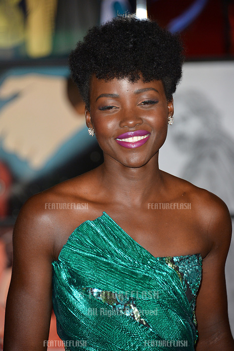 """Lupita Nyong'o at the world premiere for """"Star Wars: The Last Jedi"""" at the Shrine Auditorium. Los Angeles, USA 09 December  2017<br /> Picture: Paul Smith/Featureflash/SilverHub 0208 004 5359 sales@silverhubmedia.com"""