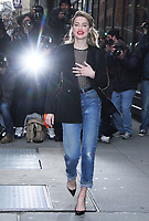 NEW YORK, NY - DECEMBER 3: Amber Heard at Build Series promoting Aquaman in New York City on December 3, 2018.   <br /> CAP/MPI/RW<br /> &copy;RW/MPI/Capital Pictures