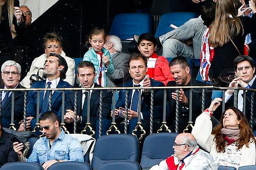 25.04.2015. Madrid, Spain.  Diego Pablo Simeone Coach of Atletico de Madrid .  Atletico de Madrid versus Elche CF at Vicente Calderon stadium.