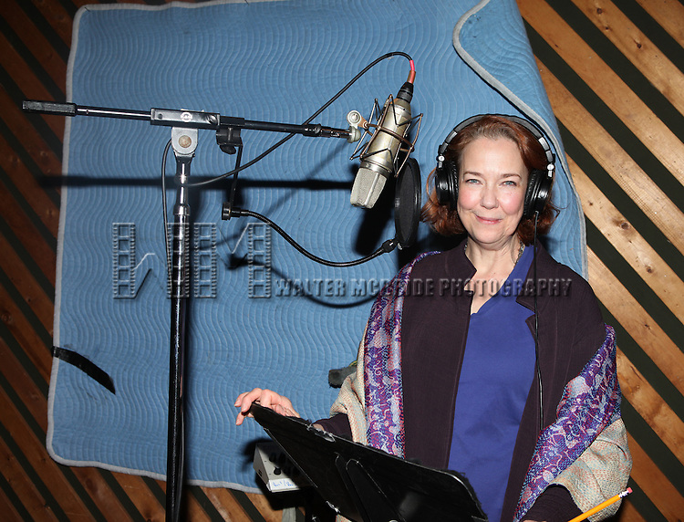 "Harriet Harris in the studio recording for the Original Broadway Cast Recording of Broadway's ""Rodgers & Hammerstein's Cinderella? at MSR Studios in New York City on 3/18/2013"