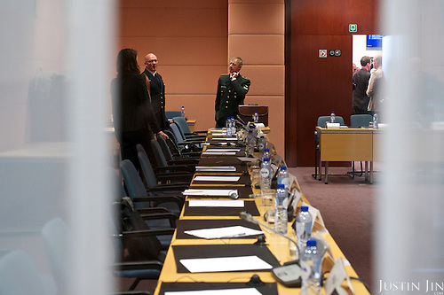 An unidentified meeting at the EU council.