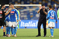Gennaro Gattuso coach of Napoli celebrates at the end of the match<br /> during the Serie A football match between SSC  Napoli and SPAL at stadio San Paolo in Naples ( Italy ), June 28th, 2020. Play resumes behind closed doors following the outbreak of the coronavirus disease. <br /> Photo Cesare Purini / Insidefoto