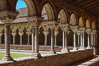 Europe/France/Midi-Pyrénées/82/Tarn-et-Garonne/Moissac: Eglise abbatiale Saint-Pierre de Moissac - étape du chemin de Saint-Jacques-de-Compostelle, classé Patrimoine Mondial de l'UNESCO, Le Cloître