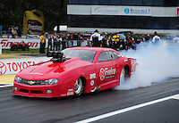 Jun. 1, 2012; Englishtown, NJ, USA: NHRA pro mod driver Jay Payne during qualifying for the Supernationals at Raceway Park. Mandatory Credit: Mark J. Rebilas-