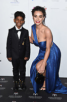 Sunny Pawar and Amy Jackson<br /> at the London Hilton Hotel for the Asian Awards 2017, London. <br /> <br /> <br /> ©Ash Knotek  D3261  05/05/2017