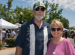 Vernon and Teri Funsch during the Lavender and Honey Festival in Sparks on Sunday, June 25, 2017.