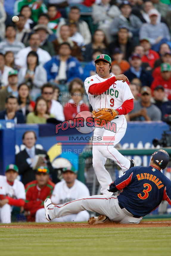 Vinny Castilla of Mexico during the World Baseball Championships at Angel Stadium in Anaheim,California on March 16, 2006. Photo by Larry Goren/Four Seam Images