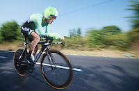 Bauke Mollema (NLD)<br /> <br /> Tour de France 2013<br /> stage 11: iTT Avranches - Mont Saint-Michel <br /> 33km