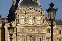 Pavillon Sully, built by Jacques Lemercier (1586-1654), ordered by Louis XIII in 1639, Louvre Museum, Paris, France Picture by Manuel Cohen