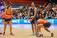 NZ Men's Daniel Jefferies loses the ball during the Cadbury Netball Series match between NZ Men and All Stars at the Bruce Pullman Arena in Papakura, New Zealand on Friday, 28 June 2019. Photo: Dave Lintott / lintottphoto.co.nz