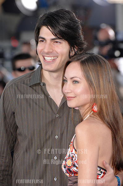 "Brandon Routh & fiancée Courtney Ford at the Los Angeles premiere of ""Transformers""..June 28, 2007  Los Angeles, CA.Picture: Paul Smith / Featureflash"