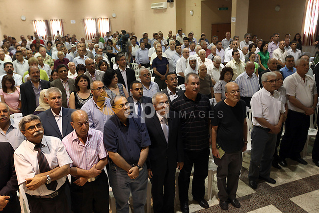 Palestinian Prime Minister Salam Fayyad during the inauguration of Mahmoud Darwish institution for creativity in Kufur Yassif on June 12,2010. Photo by Mustafa Abu Dayeh\pool