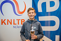 Hilversum, Netherlands, December 3, 2017, Winter Youth Circuit Masters, 12,14,and 16 years,  5 th place boys 14 years Wester Klerk<br /> Photo: Tennisimages/Henk Koster