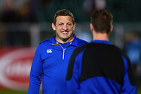 Bath Rugby first team coach Toby Booth looks on during the pre-match warm-up. Gallagher Premiership match, between Bath Rugby and Exeter Chiefs on October 5, 2018 at the Recreation Ground in Bath, England. Photo by: Patrick Khachfe / Onside Images