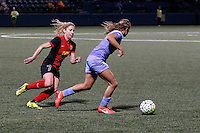 Rochester, NY - Friday July 01, 2016: Chicago Red Stars midfielder Alyssa Mautz (4), Western New York Flash midfielder McCall Zerboni (7) during a regular season National Women's Soccer League (NWSL) match between the Western New York Flash and the Chicago Red Stars at Rochester Rhinos Stadium.
