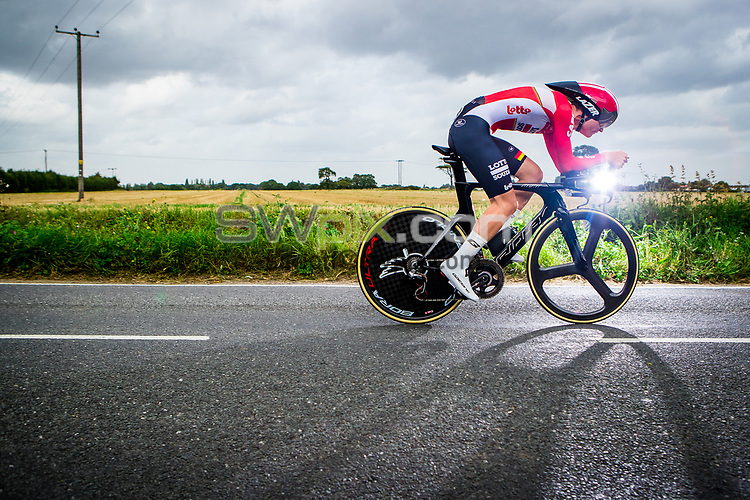 Picture by Alex Whitehead/SWpix.com - 07/09/2017 - Cycling - OVO Energy Tour of Britain - Stage 5, The Tendring Stage Individual Time Trial - Senne Leysen of Lotto Soudal in action.