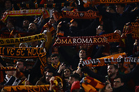 12th January 2020; Stadio Olympico, Rome, Italy; Italian Serie A Football, Roma versus Juventus; supporters of AS Roma display their colours