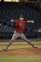 AZL Diamondbacks starting pitcher Lane Ratliff (35) delivers a pitch in a rehab start during an Arizona League game against the AZL Cubs 1 at Sloan Park on June 18, 2018 in Mesa, Arizona. AZL Diamondbacks defeated AZL Cubs 1 7-0. (Zachary Lucy/Four Seam Images)